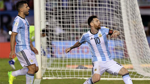 Messi anotó el único gol del partido