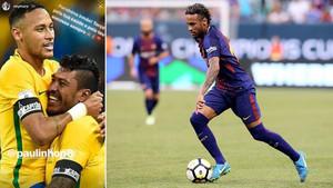 Neymar y Paulinho mantienen una estrecha relación personal