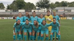 Esta fue la primera alineación de Fran Sánchez como entreandor del Barça femenino