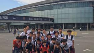 Los niños coreanos tuvieron la oportunidad la temporada pasada de visitar el Camp Nou