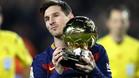 Messi apunta al Bal�n de Oro