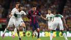 Domingo 24 de agosto de 2014. Debut oficial del FC Barcelona de Luis Enrique, en Liga y en el Camp Nou, con victoria ente el Elche (3-0). Messi firm� dos de los goles