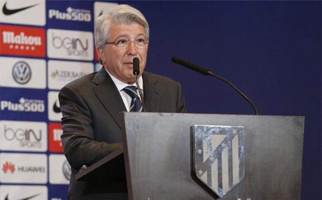 Enrique Cerezo, presidente del Atl�tico de Madrid