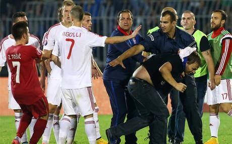 Incidentes entre las selecciones de Albania y Serbia