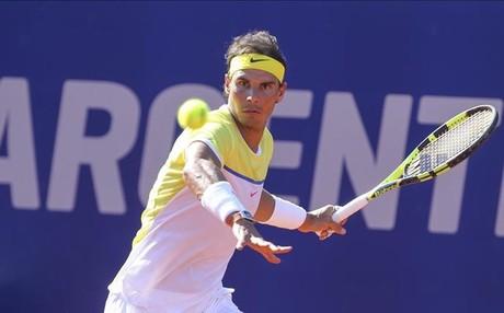 Rafa Nadal sud� de lo lindo para clasificarse para semifinales