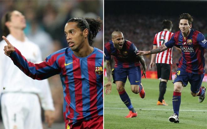 Ronaldinho contra Messi, la segunda semifinal