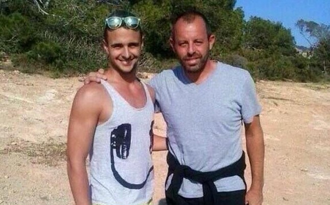Ousted former Barcelona President Sandro Rossell pictured chilling on the beach in Ibiza