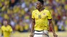 Yerry Mina juega en el Palmeiras