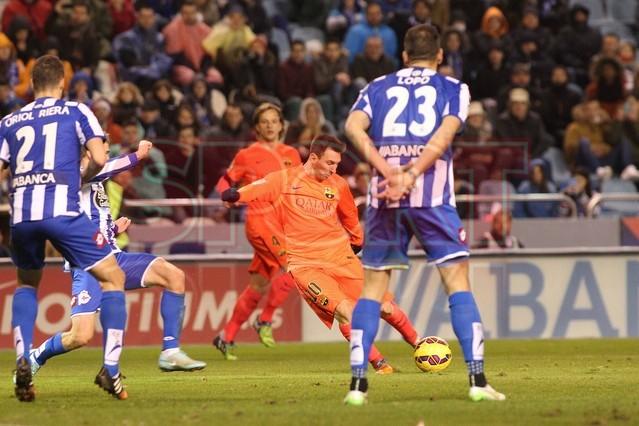 صور : مباراة ديبورتيفو لاكورونيا - برشلونة 0-4 ( 18-01-2015 )  1421614440295