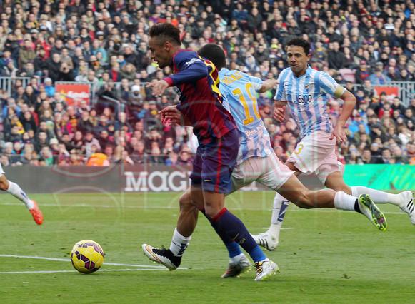 صور : مباراة برشلونة - ملقا  0-1 ( 21-02-2015 )  1424541252395
