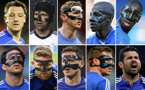 Jugadores del Chelsea que han llevado máscara junto a Diego Costa.