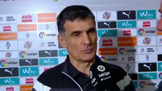 Mendilibar elogió el juego del Barça ante el Eibar