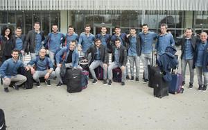 El Barça Lassa, antes de viajar ayer a Alcobendas, donde disputará hoy a las 20.00 horas el último cuarto de la Copa del Rey ante el Voltregà