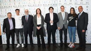 Los protagonistas de la presentación del MIC 17 en Girona
