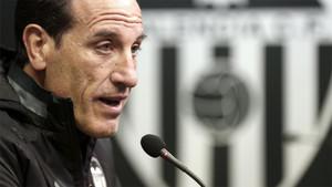 El entrenador del Valencia, Voro