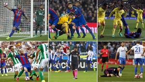 El Barça se dejó sus opciones al título de Liga en seis partidos clave