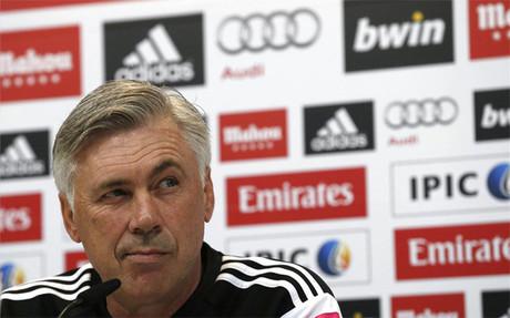 Carlo Ancelotti, durante la rueda de prensa de este jueves en Valdebebas
