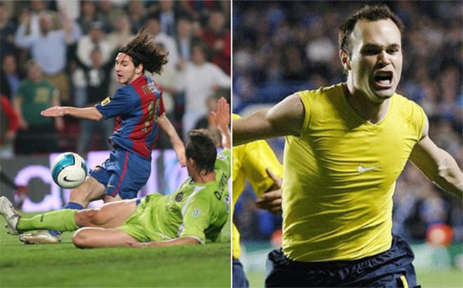 El gol de Messi, contra el de Iniesta