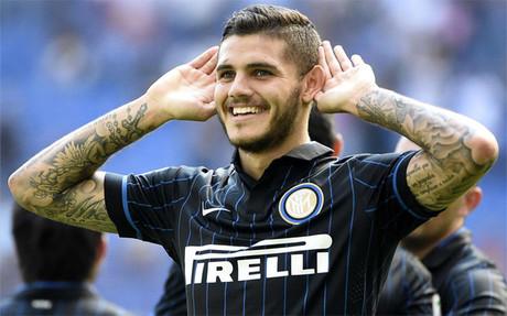 Icardi firm� un triplete de goles ante el Sassuolo