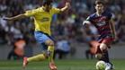 Leo Messi en una acción del último FC Barcelona - UD Las Palmas (2-1) del 26 de septiembre de 2015, en el que cayó lesionado a los 10 minutos...