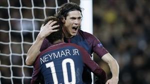 Los penaltis del PSG abrieron una brecha entre Neymar y Cavani