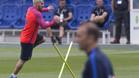 Messi, en un entrenamiento del stage