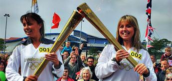 La antorcha olímpica pasó por la Isla de Man
