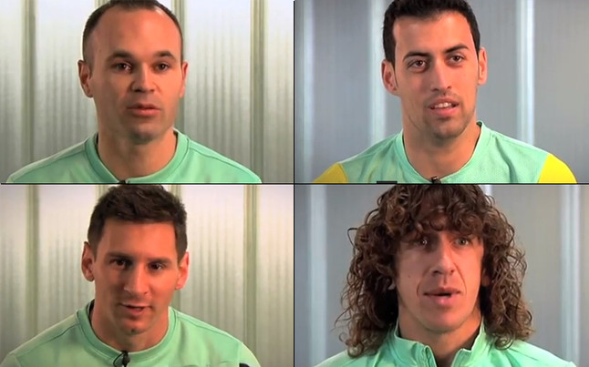 Messi, Iniesta, Puyol & Busquets pay homage to Xavi 700 after maestros Barcelona milestone [Video]