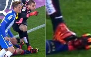 Pau López pisó deliberadamente a Messi