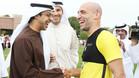La plantilla citizen saludó al jeque Mansour