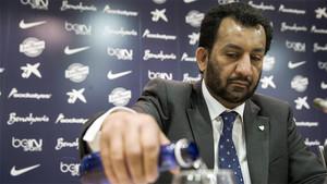 El presidente del Málaga, el jeque Sheikh Abdullah Al-Thani
