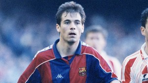 Eskurza, durante su etapa en el Barça