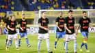 Los jugadores de Celta y Las Palmas posaron con camisetas