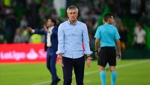 Setién recibió un duro correctivo ante el Valencia