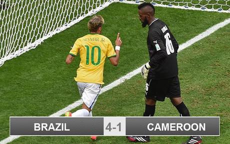 Brazil 4-1 Cameroon