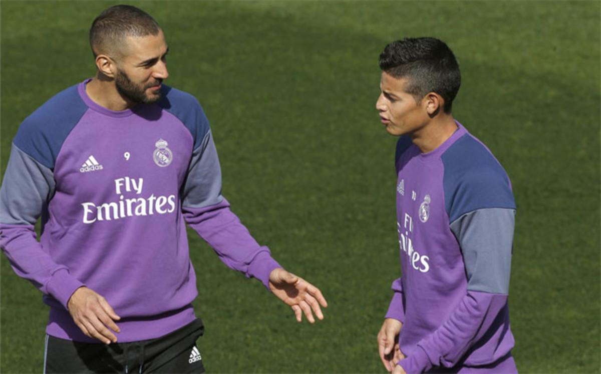 James Rodríguez no entra en los planes de Zidane