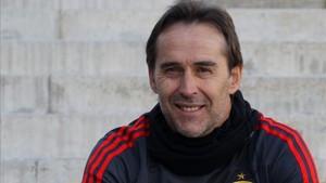 Julen Lopetegui atendió a SPORT en la concentración de la selección española