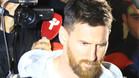 Messi llegó a Barcelona decepcionado por la sanción