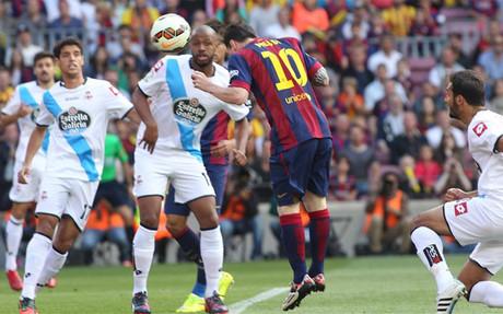 Messi abri� la lata con un gol de cabeza