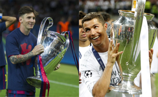 Messi y Cristiano, con la Champions