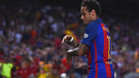 Neymar celebró su gol bailando