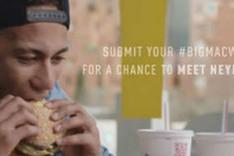 Neymar es el protagonista de la campa�a de McDonalds's