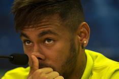 Neymar, en la rueda de prensa previa al partido de Champions contra el Ajax