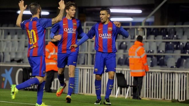 El Barça B suma y sigue y castiga al Gavà con un contundente 4-0