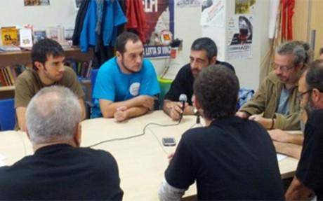 Oleguer, durante la reunión