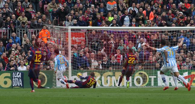 صور : مباراة برشلونة - ملقا  0-1 ( 21-02-2015 )  1424541257916