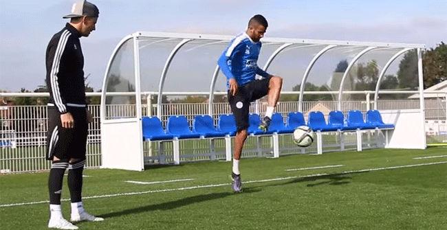 La increíble técnica con el balón de Riyad Mahrez
