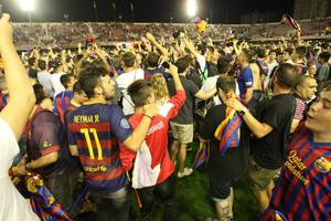 El ascenso del Barcelona B, en imágenes