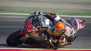 Rabat, con la moto con la que fue campeón de Moto2