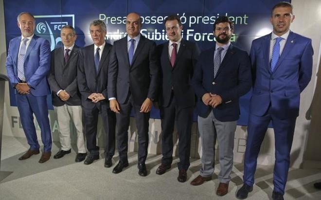 �ngel Mar�a Villar no se perdi� la toma de posesi�n de Andreu Subies en la Federaci� Catalana